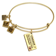 Credit Card Charm Bangle in Gold