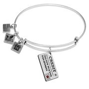 Credit Card Charm Bangle in Silver