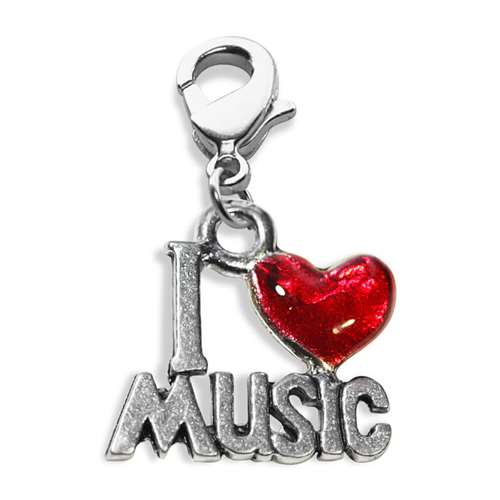 I Love Music Charm Dangle