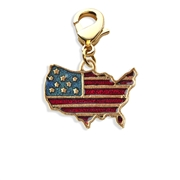 Stars and Stripes Flag Charm Dangle