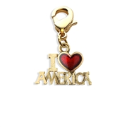 I Love America Charm Dangle