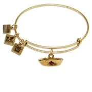 Nurse Hat Charm Bangle in Gold