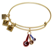 Measuring Spoons Charm Bangle in Gold