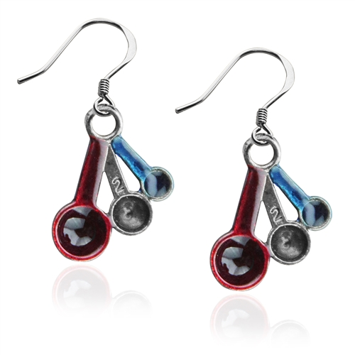 Measuring Spoons Charm Earrings in Silver