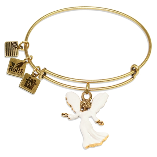 Angel Charm Bangle in Gold
