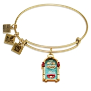 Jukebox Charm Bangle in Gold