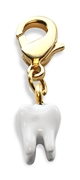 Whimsical Gifts Tooth Charm Dangle in Gold