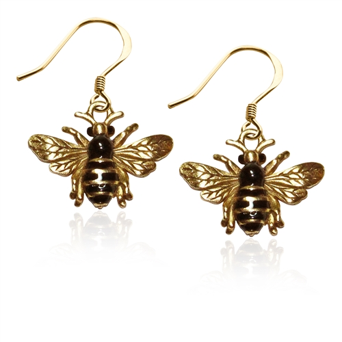 Bumble BeeCharm Earrings in Gold
