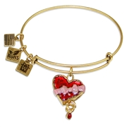 Chocolate Box Charm Bangle in Gold