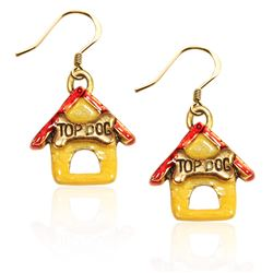 Dog House Charm Earrings in Gold