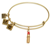 Lipstick Charm Bangle in Gold