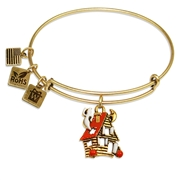 Haunted House Charm Bangle in Gold