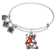 Haunted House Charm Bangle in Silver