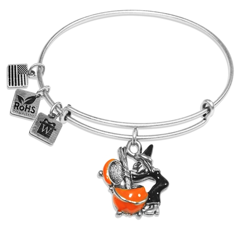 Witch Charm Bangle in Silver