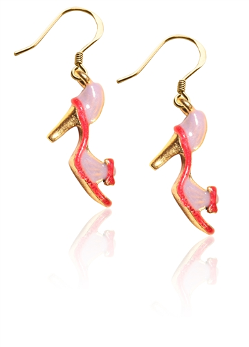 High Heel Sandal Charm Earrings in Gold