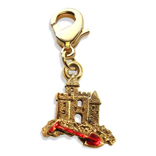 Sandcastle with Shovel Charm Dangle