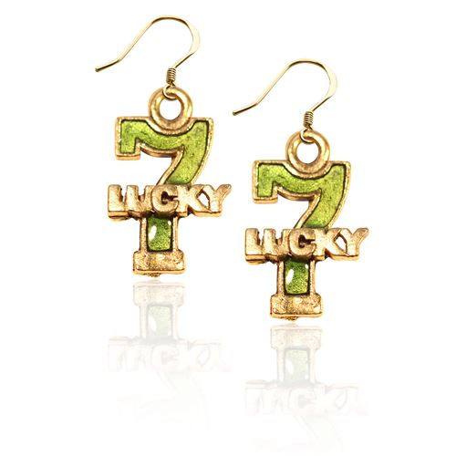 Lucky 7 Charm Earrings in Gold