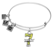 Lucky 7 Charm Bangle in Silver