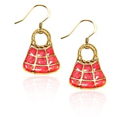 Tic-Tac-To Purse Charm Earrings in Gold