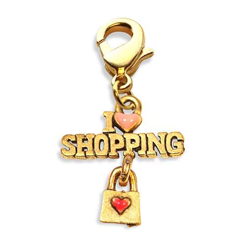 I Love Shopping Charm Dangle