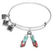 Flip Flops Charm Bangle in Silver