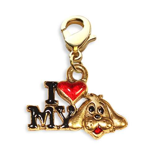 I Love My Dog Charm Dangle