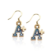 A+ Charm Earrings in Gold