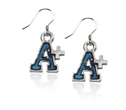 A+ Charm Earrings in Silver