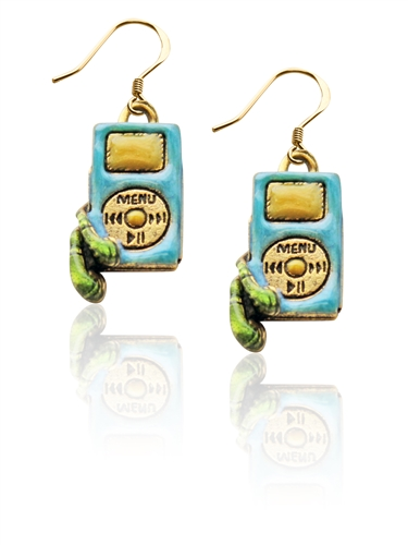 I-Pod Charm Earrings in Gold