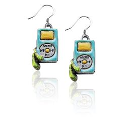 I-Pod Charm Earrings in Silver