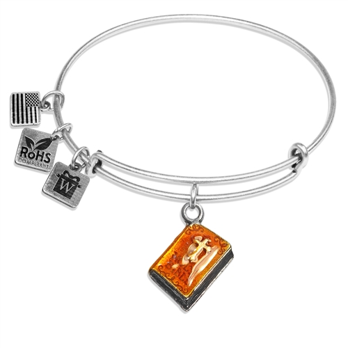 Holy Bible Charm Bangle in Silver