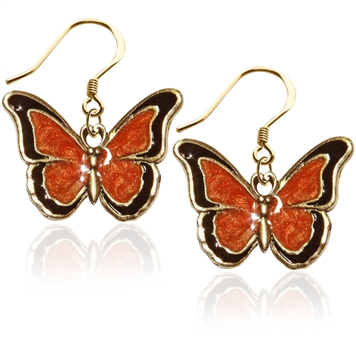 Butterfly Charm Earrings in Gold