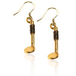 Dental Mirror Charm Earrings in Gold