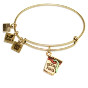 Dental Floss Charm Bangle in Gold