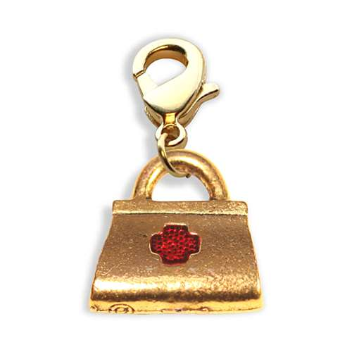 Whimsical Gifts Medical Bag Charm Dangle in Gold