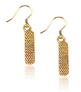 Whimsical Gifts Band Aid Charm Earrings in Gold