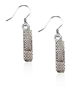 Whimsical Gifts Band Aid Charm Earrings in Silver