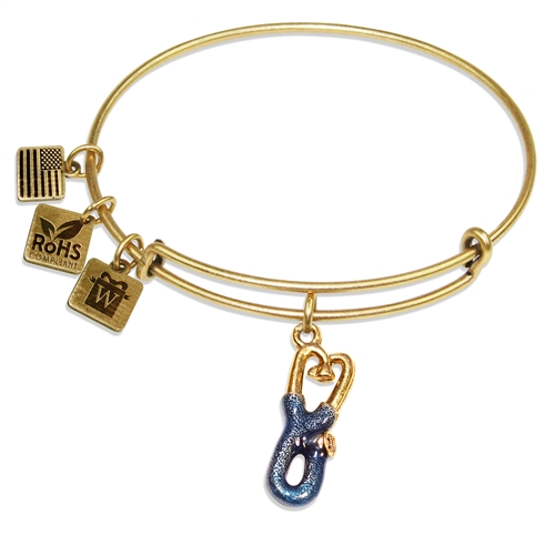 Stethoscope Charm Bangle in Gold