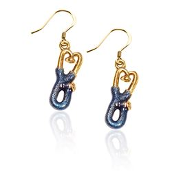 Whimsical Gifts Stethoscope Charm Earrings in Gold