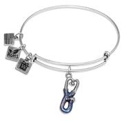 Stethoscope Charm Bangle in Silver