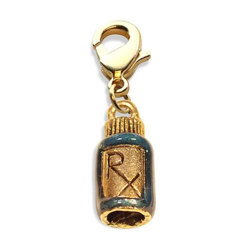Whimsical Gifts RX Charm Dangle in Gold
