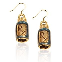 Whimsical Gifts RX Charm Earrings in Gold