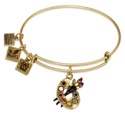 Artist Palette Charm Bangle in Gold