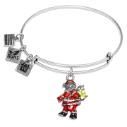 Santa Claus Charm Bangle in Silver