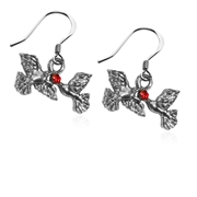 Dove's Kissing Charm Earrings in Silver