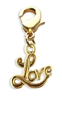 Love Charm Dangle in Gold