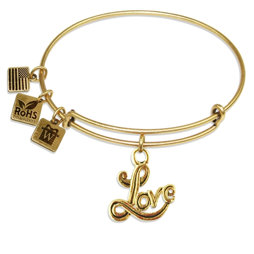 Love Charm Bangle in Gold