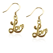 Love Charm Earrings in Gold