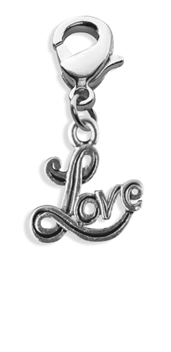 Love Charm Dangle in Silver