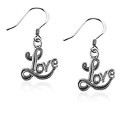 Love Charm Earrings in Silver